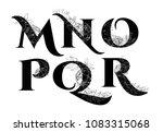 vintage flower alphabet. | Shutterstock .eps vector #1083315068