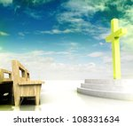 holy heaven s church space with ... | Shutterstock . vector #108331634