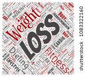 conceptual weight loss healthy... | Shutterstock . vector #1083322160