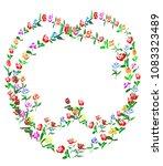 beautifully hand drawn wreaths...   Shutterstock .eps vector #1083323489