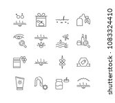 cosmetology icons set with...