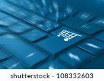 online shopping concept  ... | Shutterstock . vector #108332603