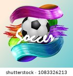 football banner ball | Shutterstock .eps vector #1083326213