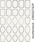 vector vintage border frame set | Shutterstock .eps vector #1083327629