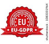 eu gdpr label illustration | Shutterstock .eps vector #1083331964
