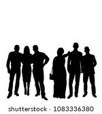 silhouettes of people crowd ... | Shutterstock .eps vector #1083336380