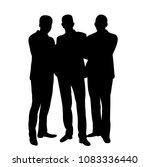 silhouettes of people crowd ... | Shutterstock .eps vector #1083336440