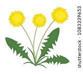 yellow dandelions with green... | Shutterstock .eps vector #1083339653