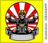 skull with classic helmet... | Shutterstock .eps vector #1083346499