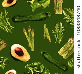 vegan seamless pattern.  ... | Shutterstock . vector #1083348740