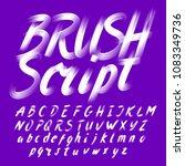 hand drawn brush stroke... | Shutterstock .eps vector #1083349736