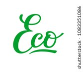 Lettering Of Word Eco  Hand...