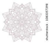 circular intricate mandala... | Shutterstock .eps vector #1083357398