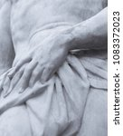 the detail of sculpture part of ... | Shutterstock . vector #1083372023