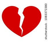 isolated broken heart. vector... | Shutterstock .eps vector #1083372380