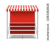 street flower market stall with ... | Shutterstock .eps vector #1083383828
