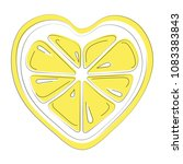 logo of lemon in the form of... | Shutterstock .eps vector #1083383843