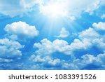 Beautiful Blue Sky With Sun Fo...