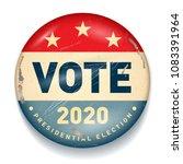 vintage style 2020 united...   Shutterstock .eps vector #1083391964