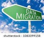 data migration   street sign... | Shutterstock . vector #1083399158