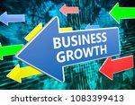business growth   text concept...   Shutterstock . vector #1083399413