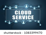 cloud service   text concept on ...   Shutterstock . vector #1083399470