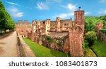ruins of heidelberg castle ...   Shutterstock . vector #1083401873