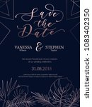 wedding invitation summer... | Shutterstock .eps vector #1083402350
