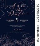 wedding invitation summer...   Shutterstock .eps vector #1083402350