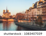 notre dame cathedral in paris ... | Shutterstock . vector #1083407039