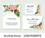 wedding invitation  invite ... | Shutterstock .eps vector #1083408893