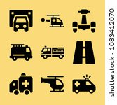 set of 9 transport filled icons ... | Shutterstock .eps vector #1083412070