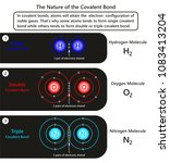 the nature of the covalent bond ...   Shutterstock .eps vector #1083413204