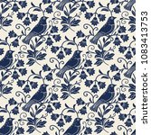 vector seamless pattern with... | Shutterstock .eps vector #1083413753