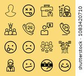 set of 16 people outline icons... | Shutterstock .eps vector #1083420710