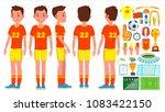soccer young man player. man.... | Shutterstock . vector #1083422150