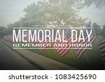 text memorial day remember and... | Shutterstock . vector #1083425690