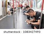 hong kong   october 22 ...   Shutterstock . vector #1083427493