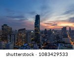 beautiful sunset of the... | Shutterstock . vector #1083429533