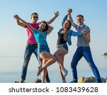 friends are have fun and... | Shutterstock . vector #1083439628