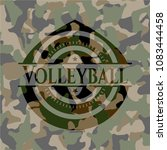 volleyball camouflaged emblem | Shutterstock .eps vector #1083444458