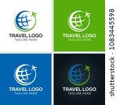 travel agency vector logo... | Shutterstock .eps vector #1083445598