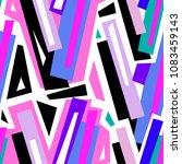 seamless urban funky geometric ...   Shutterstock .eps vector #1083459143