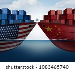 china united states trade... | Shutterstock . vector #1083465740