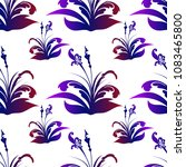 seamless pattern with abstract... | Shutterstock .eps vector #1083465800