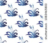 seamless pattern with abstract... | Shutterstock .eps vector #1083465803