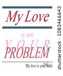 typography slogan  graphic... | Shutterstock .eps vector #1083466643