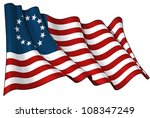 usa betsy ross flag | Shutterstock . vector #108347249
