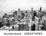 Chicago Skyline Aerial View In...