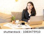 smart asian business woman...   Shutterstock . vector #1083475910